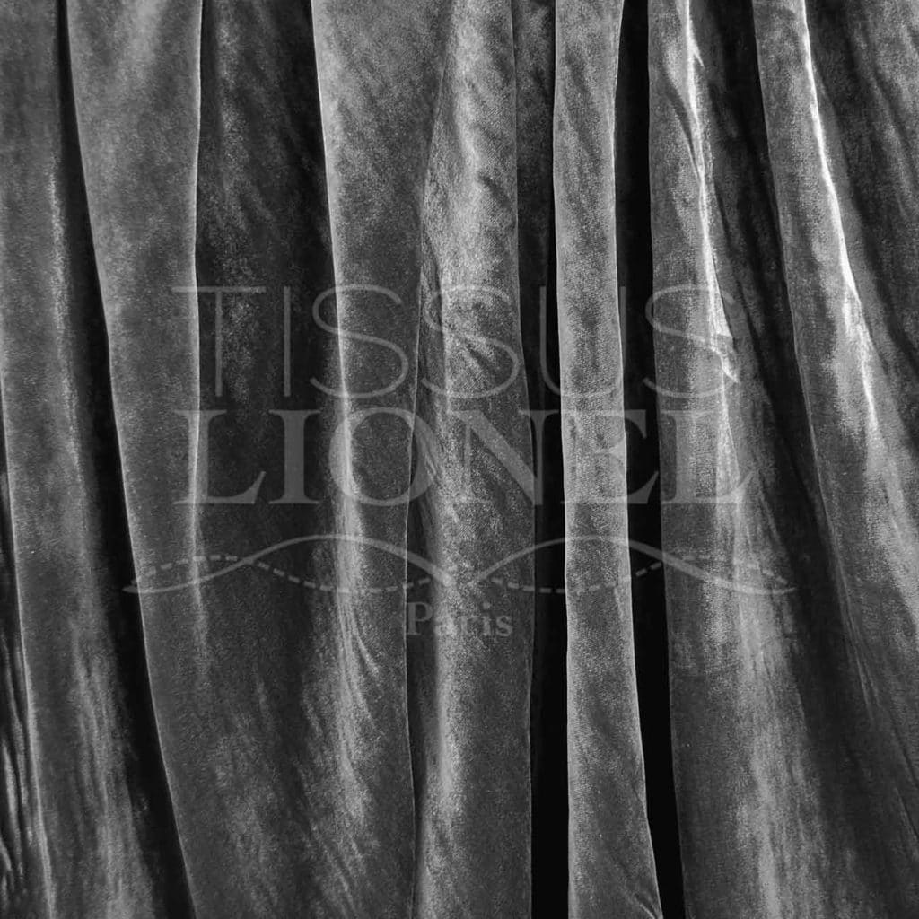 fd8fc20b812 VELVET SILK DARK GRAY - Lionel Fabrics