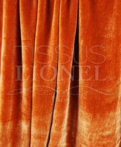 velour soyeux orange
