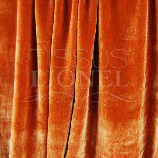 velour soyeux orange
