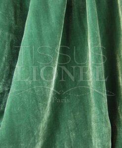 Absinth grün seidig Velours