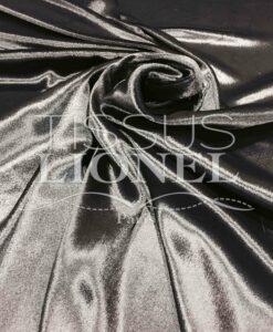 Samt glänzend schwarze Seide