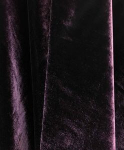 Velours de soie violet changeant vert