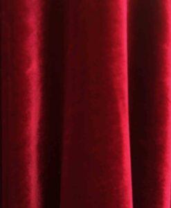 Velours de soie rouge changeant vert endroit
