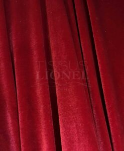 Spandex velvet cherry red