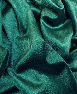 Velours élasthanne vert canard