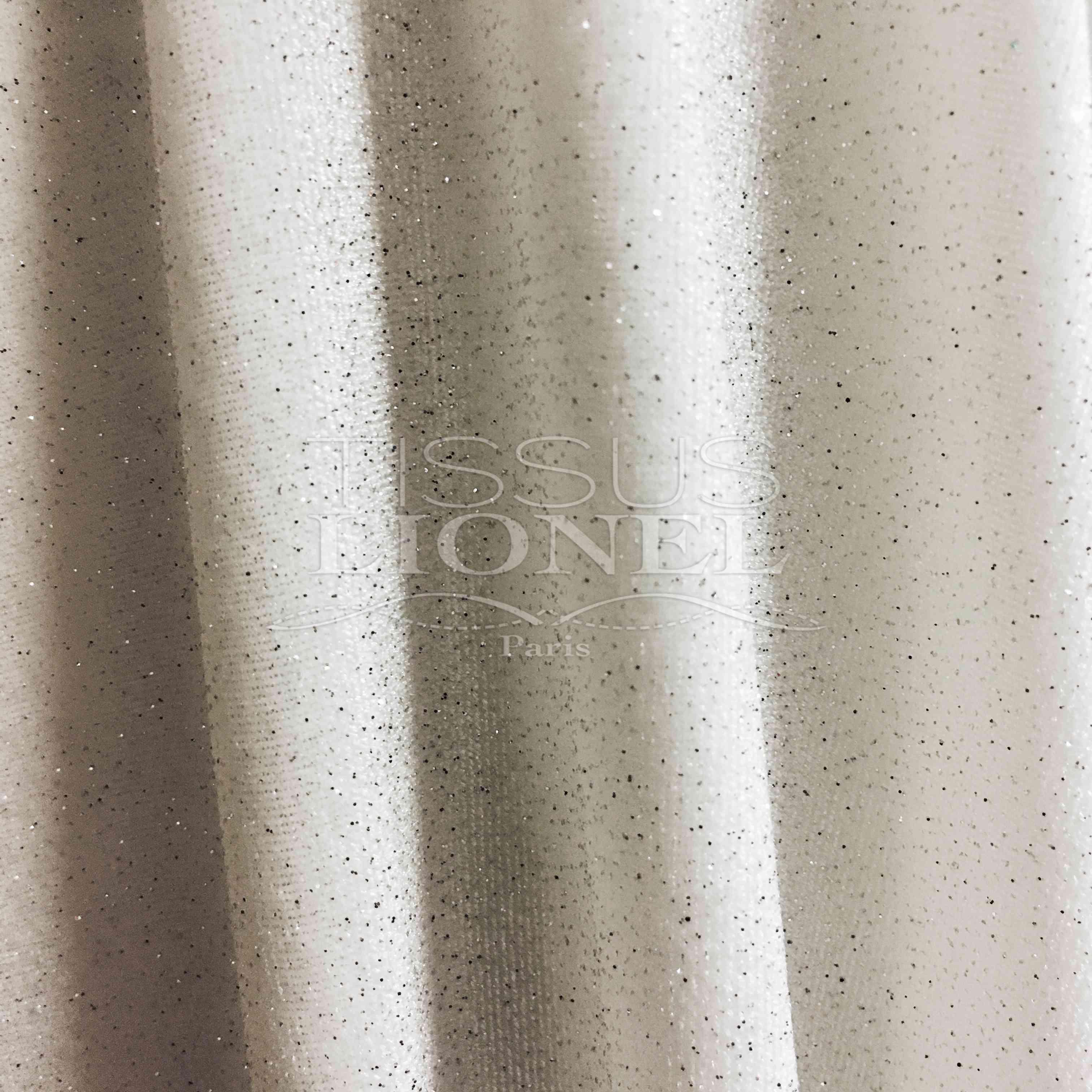 082e33e7fb4a bianco argento glitterato Velvet glitterata - Lionel Tessuti