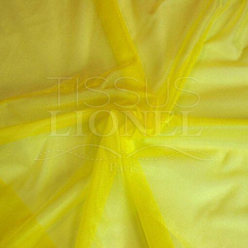 voile cristal jaune citron