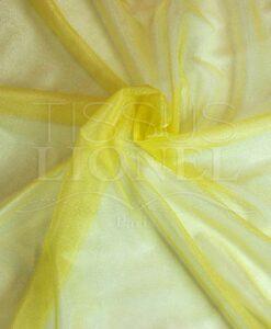 voile cristal jaune pale