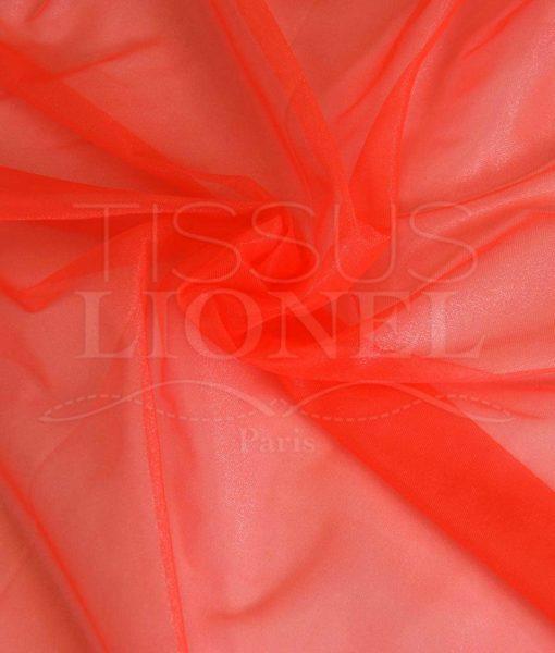 voile cristal orange fluo