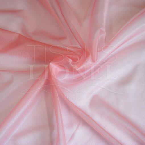 voile cristal rose pale