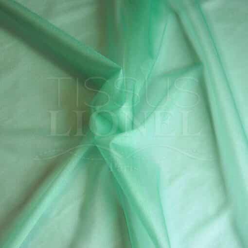 voile cristal vert pale