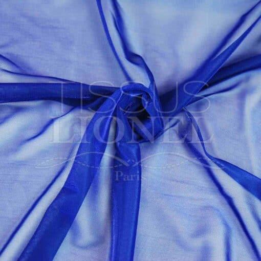 voile lurex changeante bleu