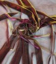 voile lurex changeante fushia et or