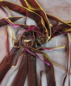 Lurex veil changing fuchsia and gold