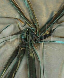 Sailing turquoise and gold lurex changing