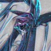 voile lurex changeante turquoise et violet