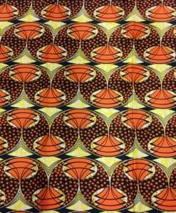 Wax- Tissus africain circle orange