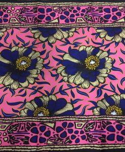 Wax- Tissus africain fleurs violette